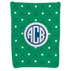Field Hockey Baby Blanket - Field Hockey Pattern