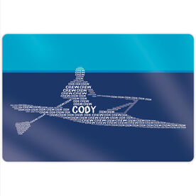 "Crew 18"" X 12"" Aluminum Room Sign - Personalized Crew Words Guy"
