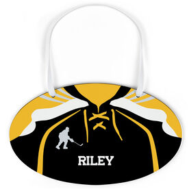 Hockey Oval Sign - Personalized Hockey Jersey