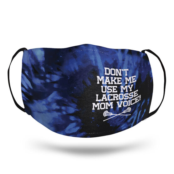 Guys Lacrosse Face Mask - Don't Make Me Use My Lacrosse Mom Voice