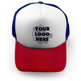 Guys Lacrosse Trucker Hat Custom Team Logo