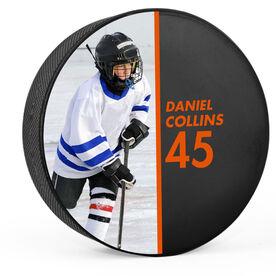Personalized Hockey Puck - Photo (Split)