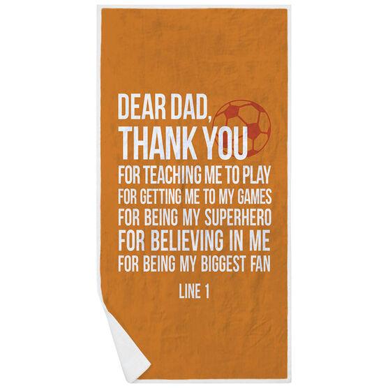 Soccer Premium Beach Towel - Dear Dad