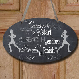 Vintage Courage To Start Decorative Oval Sign
