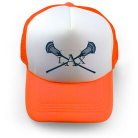 Guys Lacrosse Trucker Hat - LAX Crossed Sticks