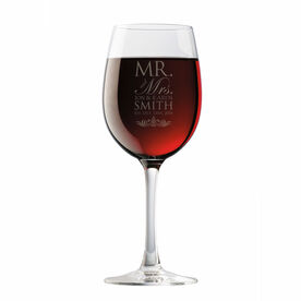 Personalized Wine Glass - Our Wedding Day Cheers