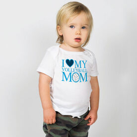 Volleyball Baby T-Shirt - I Love My Volleyball Mom