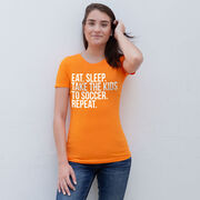 Soccer Women's Everyday Tee - Eat Sleep Take The Kids To Soccer
