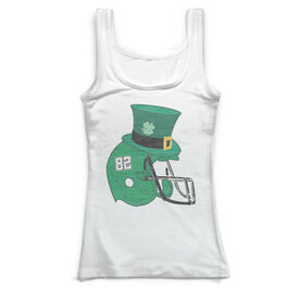 Football Vintage Fitted Tank Top - Lucky Helmet