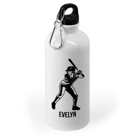 Softball 20 oz. Stainless Steel Water Bottle - Personalized Softball Batter