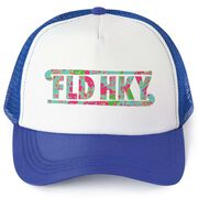 Field Hockey Trucker Hat - Floral Field Hockey