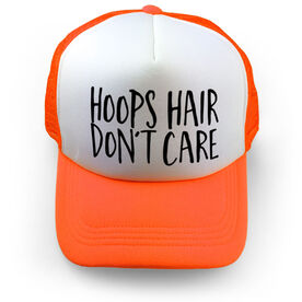 Basketball Trucker Hat - Hoops Hair Don't Care