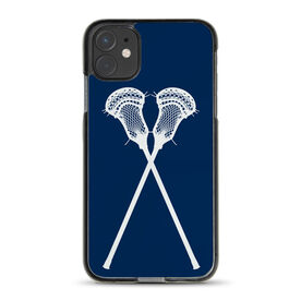 Guys Lacrosse iPhone® Case - Lacrosse Crossed Sticks