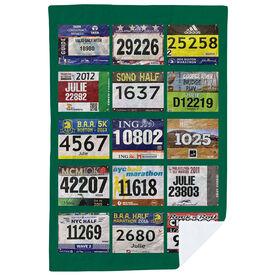 Running Premium Blanket - Your Race Bibs (15 Bibs)