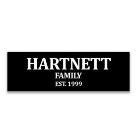 "Personalized 12.5"" X 4"" Removable Wall Tile - Family"