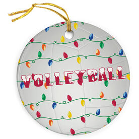 Volleyball Porcelain Ornament Christmas Lights