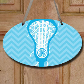 Monogrammed Lax is Life Decorative Oval Sign