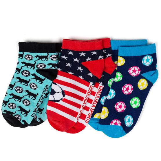 Soccer Ankle Sock Set - All American