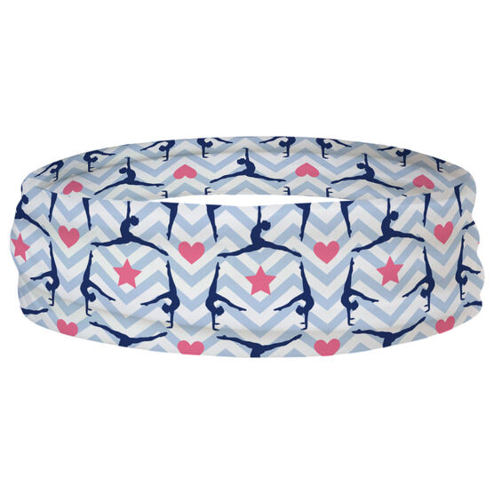 Gymnastics Multifunctional Headwear - Chevron Gymnast Pattern RokBAND