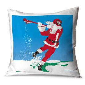Guys Lacrosse Throw Pillow Guys Lacrosse Santa Laxer