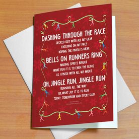 Jingle Run Greeting Card