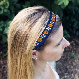 Basketball Juliband No-Slip Headband - Basketball Stripe Pattern