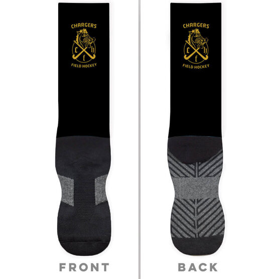 Field Hockey Printed Mid-Calf Socks - Your Logo