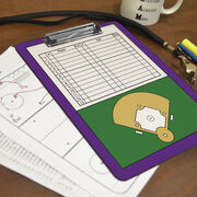 Softball Custom Clipboard Softball Roster And Field