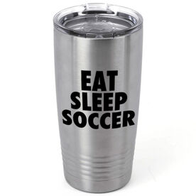 Soccer 20 oz. Double Insulated Tumbler - Eat Sleep Soccer
