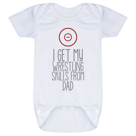 Wrestling Baby One-Piece - I Get My Skills From