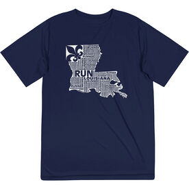 Men's Running Short Sleeve Tech Tee - Louisiana State Runner