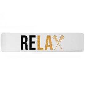 "Girls Lacrosse Aluminum Room Sign - Relax (4""x18"")"