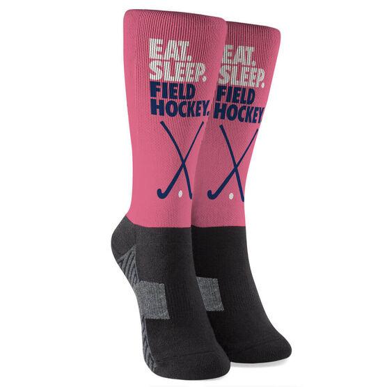 Field Hockey Printed Mid-Calf Socks - Eat Sleep Field Hockey