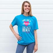 Tennis Tshirt Short Sleeve Look Like A Beauty Play Like A Beast
