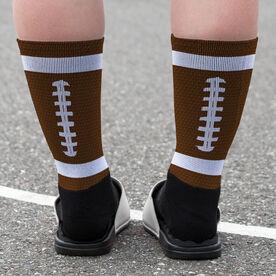Football Printed Mid-Calf Socks - Ball