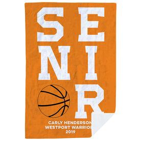 Basketball Premium Blanket - Personalized Senior