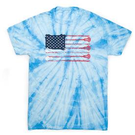 Guys Lacrosse Short Sleeve T-Shirt - USA Lacrosse Stick Tie Dye