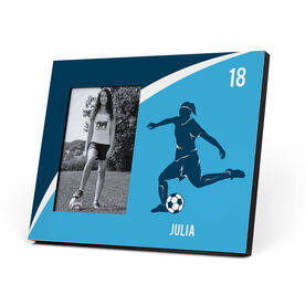 Soccer Photo Frame - Personalized Soccer Female Player