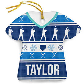 Baseball Porcelain Ornament Ugly Sweater