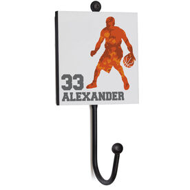 Basketball Medal Hook - Player With Name and Number