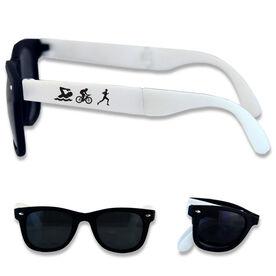 Foldable Triathlon Sunglasses Swim Bike Run Silhouette