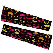 Printed Arm Sleeves - Spooky Pumpkins