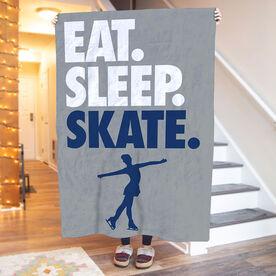 Figure Skating Premium Blanket - Eat. Sleep. Skate. Vertical