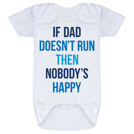 Running Baby One-Piece - If Dad Doesn't Run