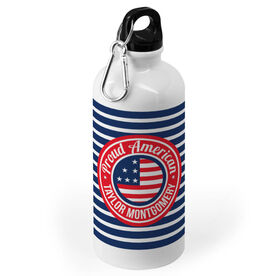 Personalized 20 oz. Stainless Steel Water Bottle - Proud American