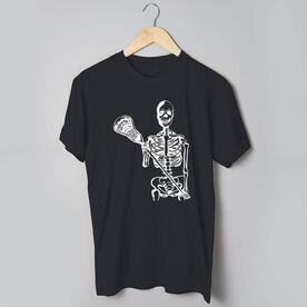 Guys Lacrosse Short Sleeve T-Shirt - Skeleton (White)