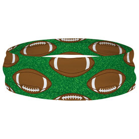 Football Multifunctional Headwear - Tossed Ball Pattern RokBAND