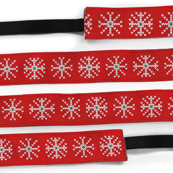 Athletic Juliband No-Slip Headband - Snowflakes Knit