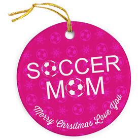 Soccer Porcelain Ornament Mom Ball