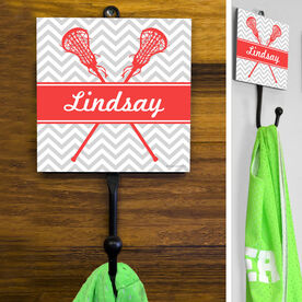 Lacrosse Hook Personalized Lacrosse Sticks with Chevron Pattern